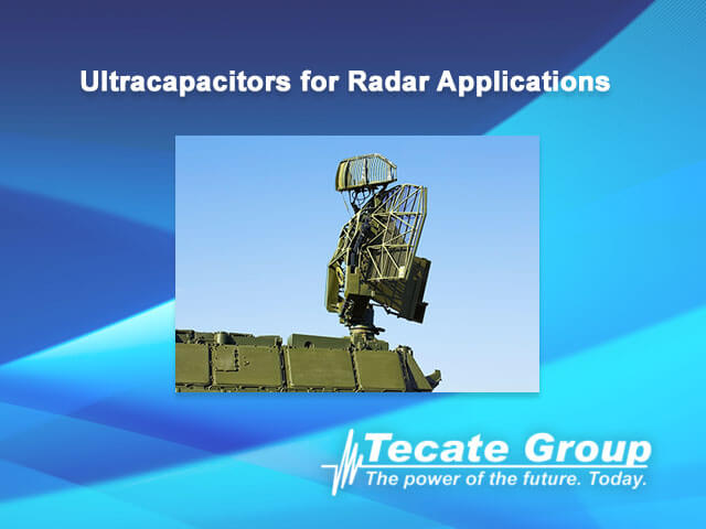 Ultracapacitors for radar applications