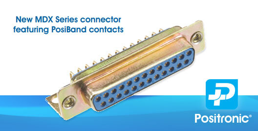 Connector with Posiband contacts