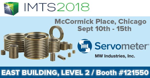 Servometer booth ad for IMTS2018