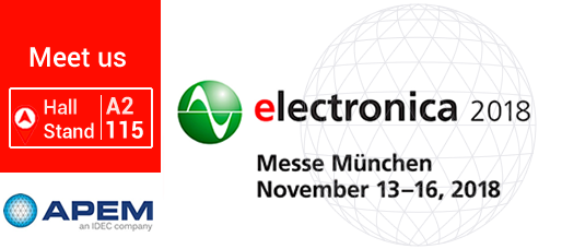 APEM at Electronica 2018