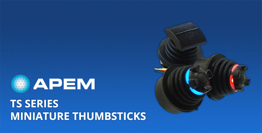 TS Series miniature thumbsticks - APEM