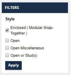 PB configurator filters