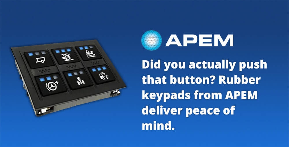 Rubber keypads with indicators by APEM