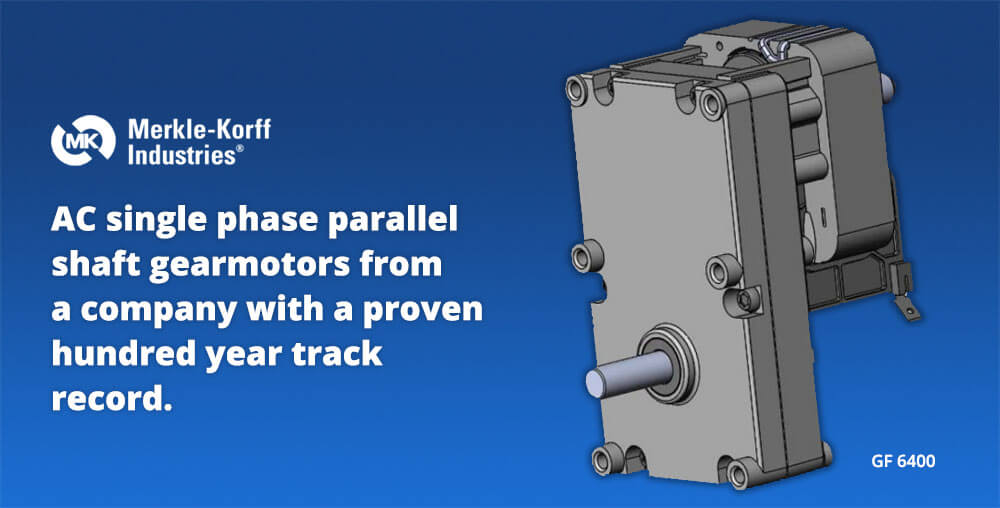 AC single phase parallel shaft gearmotor merkle-korff