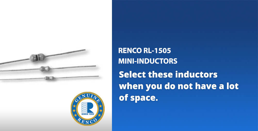 Renco mini conformally-coated inductors