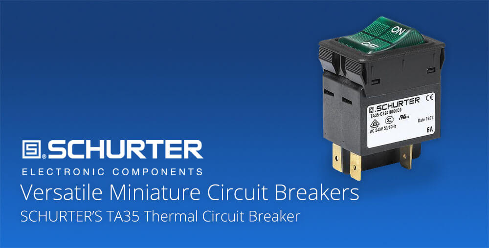 mini thermal circuit breaker with rocker switch