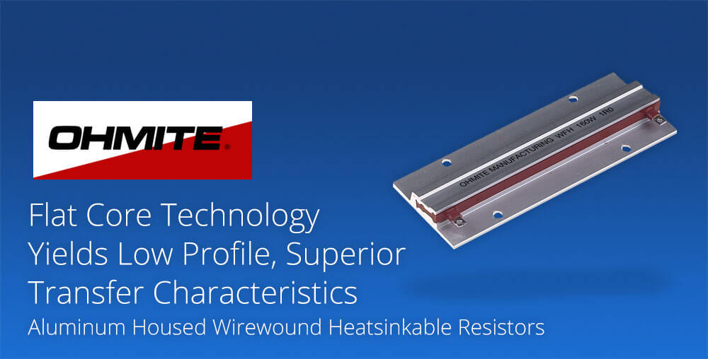 Aluminum housed wirewound heatsinkable resistors