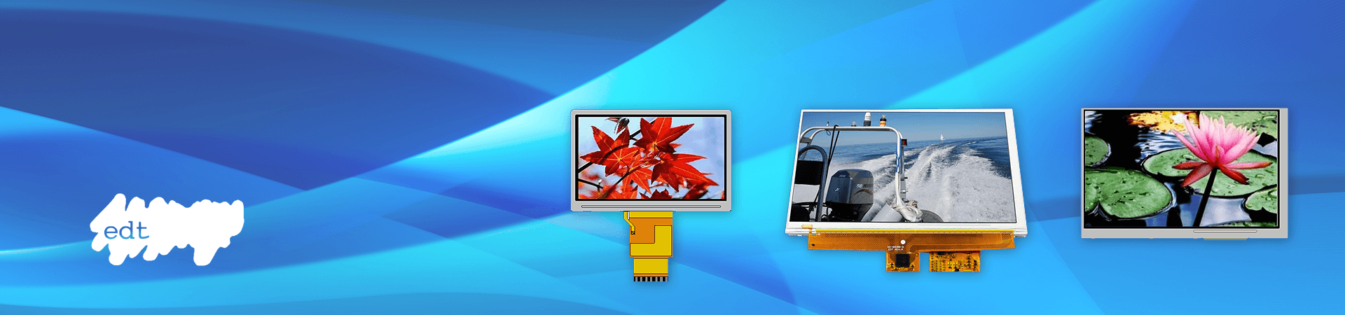 TFT LCDs, STN LCDs, and Smart Embedded Modules by EDT