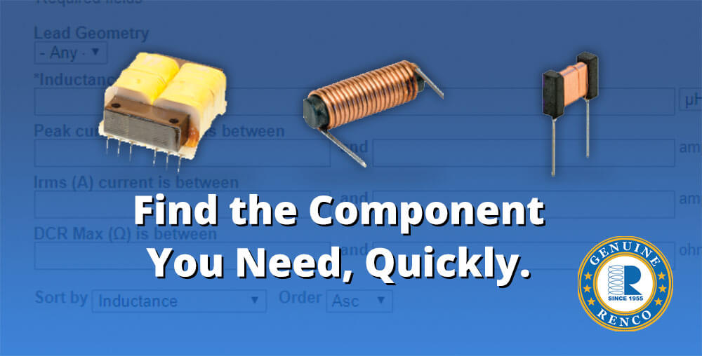 Electronic components from Renco
