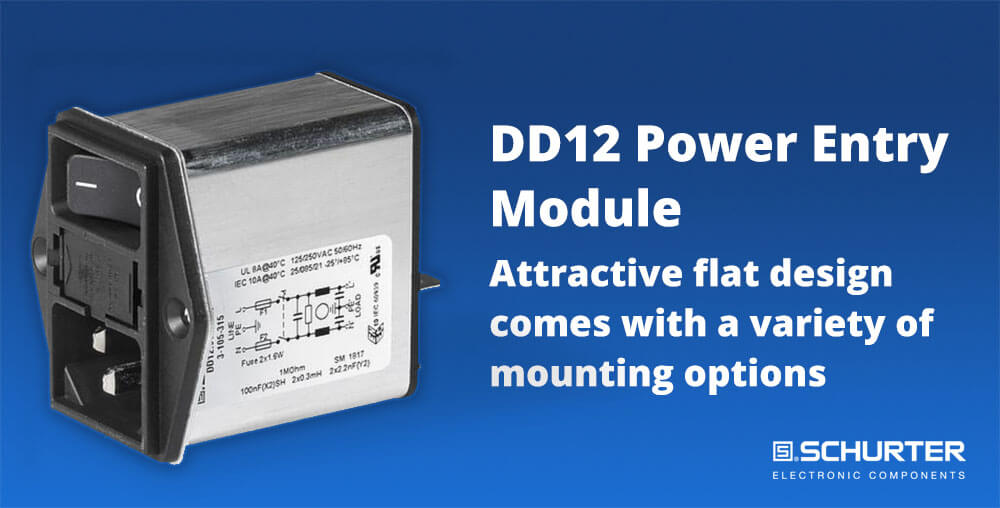 Power entry module with line filter 1