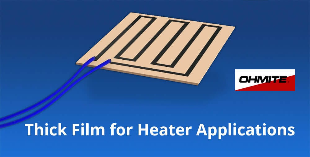 Thick film resistors for heaters