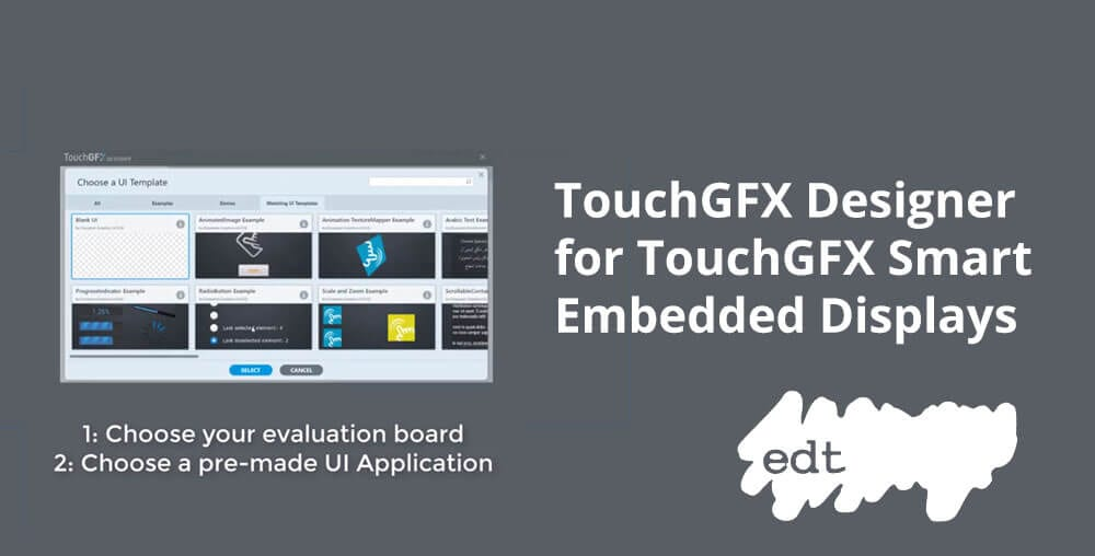 software for touchgfx smart embedded display