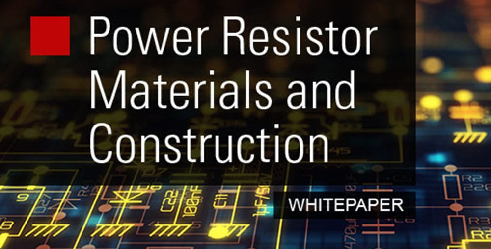 Power resistor materials and construction